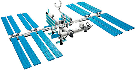 As seen in space: LEGO model of the International Space Station