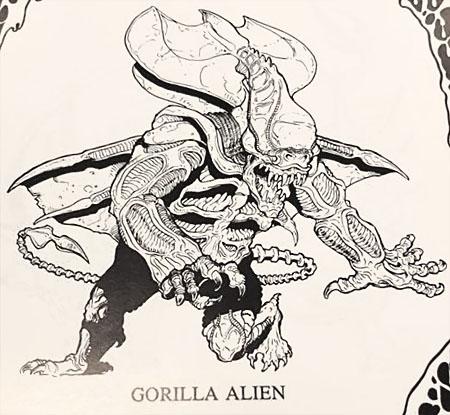 Gorilla Alien concept art