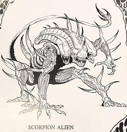 Scorpion Alien concept art