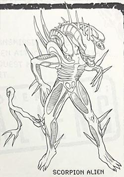 Scorpion Alien simplified art