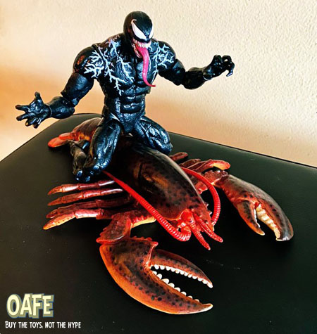 Venom riding a giant lobster toy