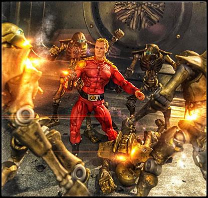 Flash Gordon fighting robots