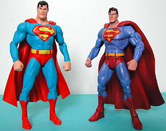 Unlike the DC Direct figures, this sculpt of Superman isn't based on any specific artist's work (even the basic DCD Superman appears to be in the style of ...