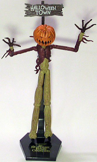 """According to the back of his card, """"Pumpkin King"""" is and comes with:"""