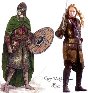 oafe lord of the rings return of the king eowyn in armor review